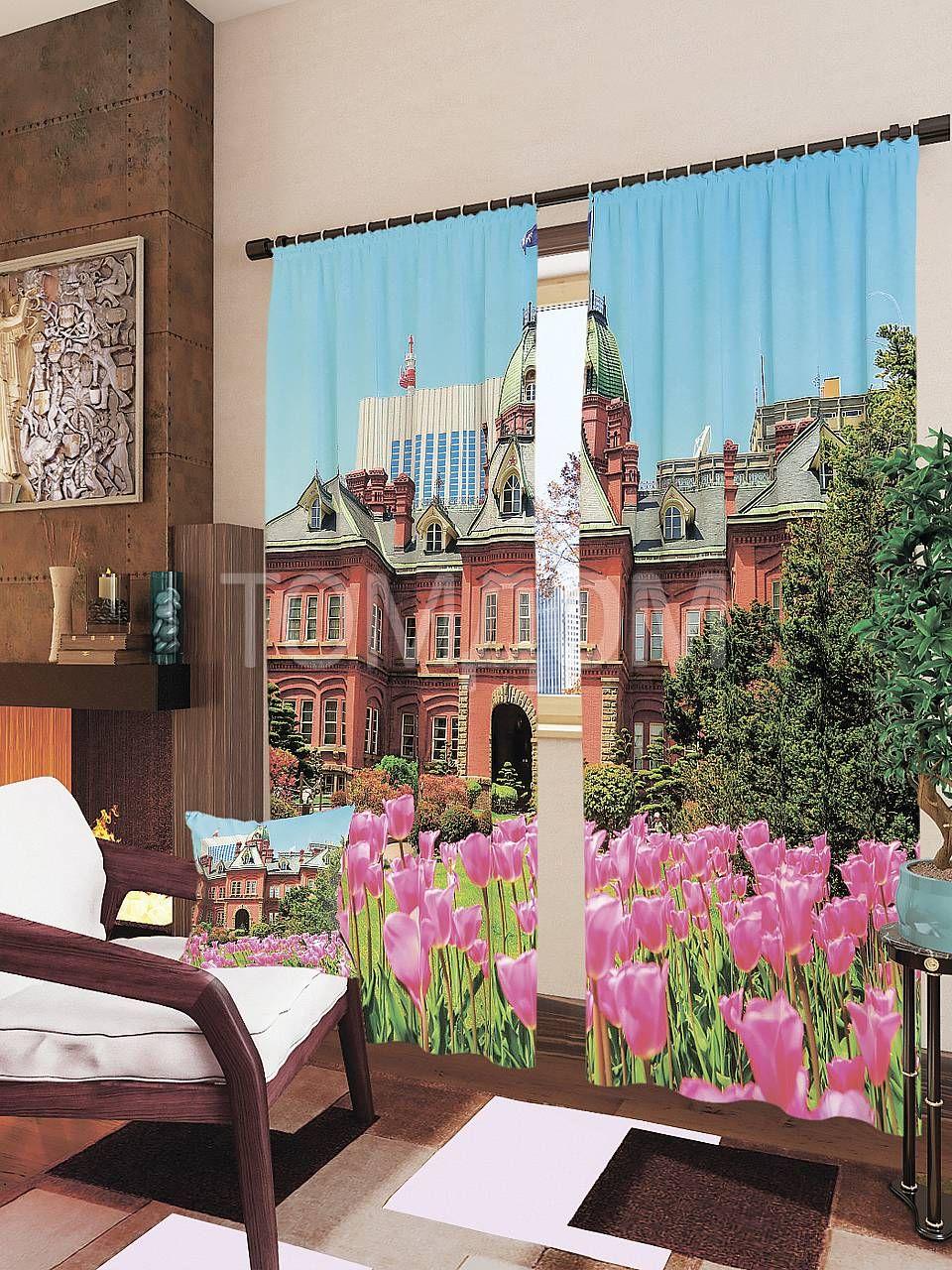 """Комплект штор """"Тюльпаны в саду"""": купить комплект штор в интернет-магазине ТОМДОМ #томдом #curtains #шторы #interior #дизайнинтерьера"""