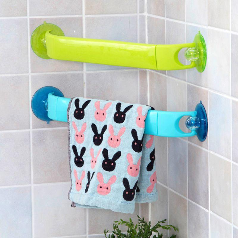 1PC Home Rotating Rack Strong Suction Retractable Towel Racks Bathroom  Corner Organize Rack Holder Towel Rack
