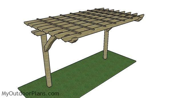 This Step By Step Diy Project Is About 2 Post Pergola Plans If You Are Tight On Space In Your Backyard Or You Want To Cover Your Bbq Diy Pergola Wooden Pergola