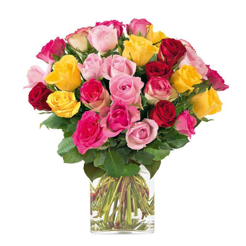 Bouquet De Petites Roses Multicolores Interflora Bouquets Petits