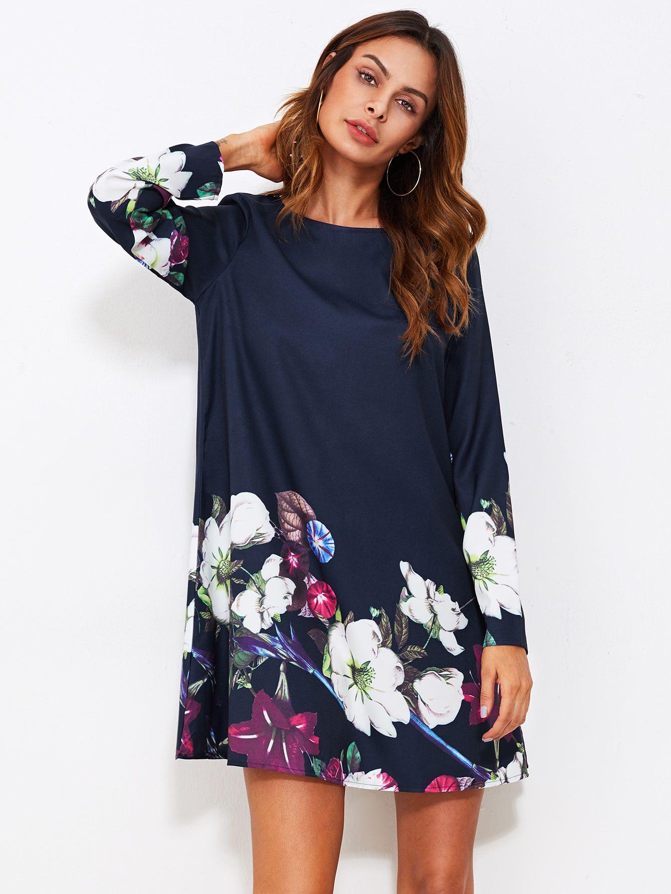 c9788fae771d3 Shop Flower Print Flowy Dress online. SheIn offers Flower Print Flowy Dress  & more