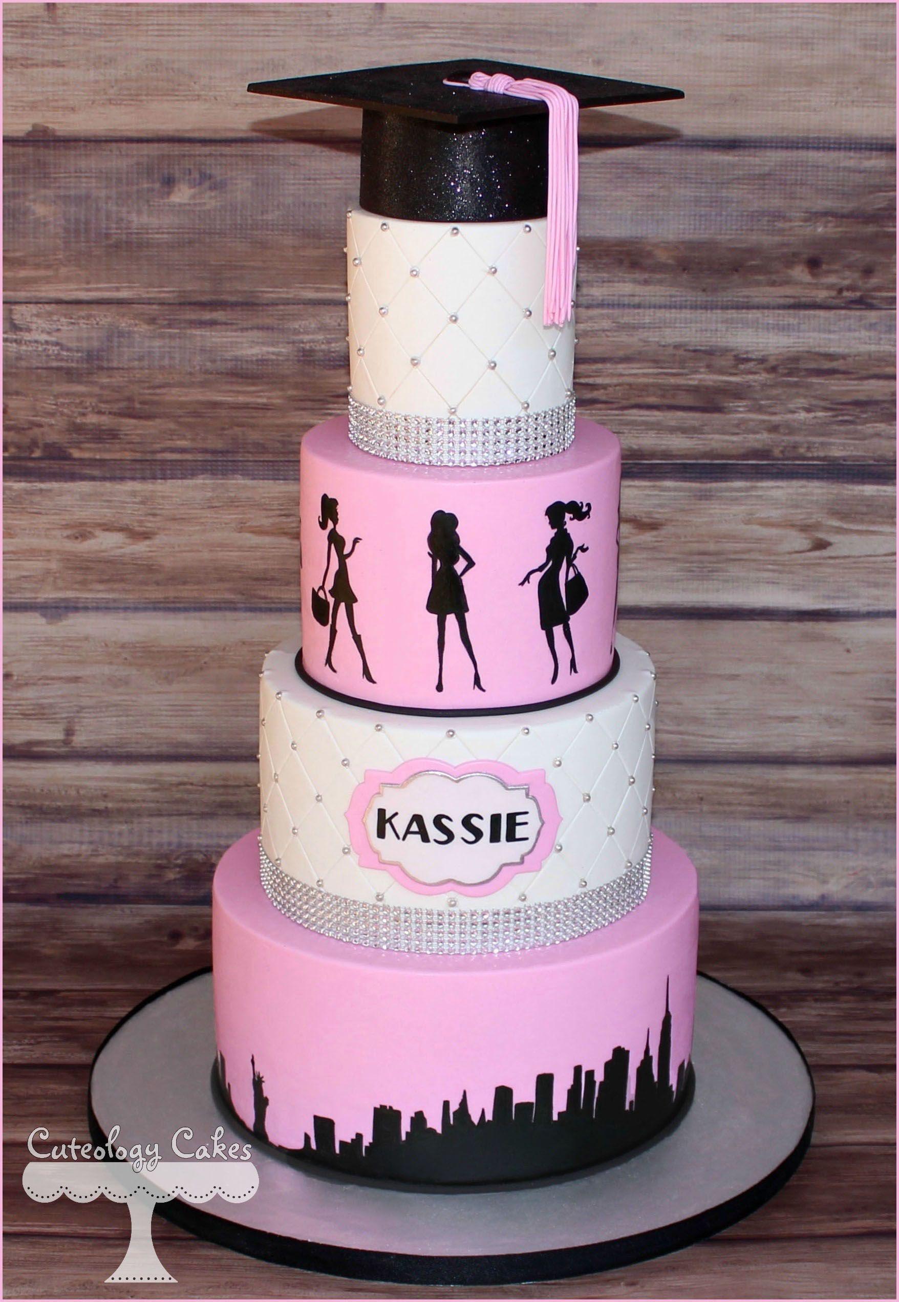 New York Fashion Themed Graduation Cake Fashion And