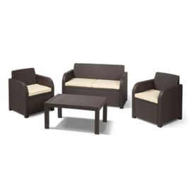 buy allibert carolina garden set seats brown from our rattan garden furniture range tesco - Rattan Garden Furniture Tesco