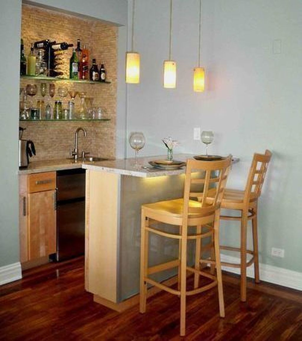 Cool 48 Lovely Small Kitchen Bar Design Ideas For Apartment