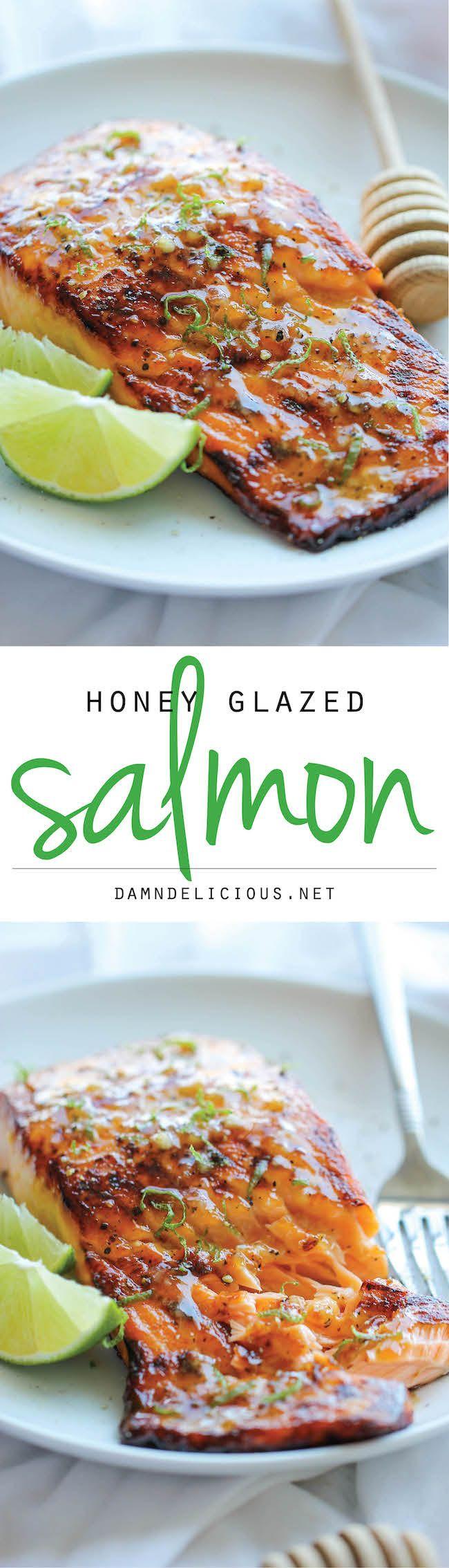 Honey Glazed Salmon Przepis Posiłki Wegetariańskie