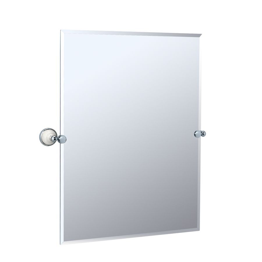 Shop Gatco Franciscan 28 In W X 31 5 In H Rectangular Tilting Frameless Bathroom Mirror With Chrome H Rectangular Bathroom Mirror Tilting Bathroom Mirror Gatco