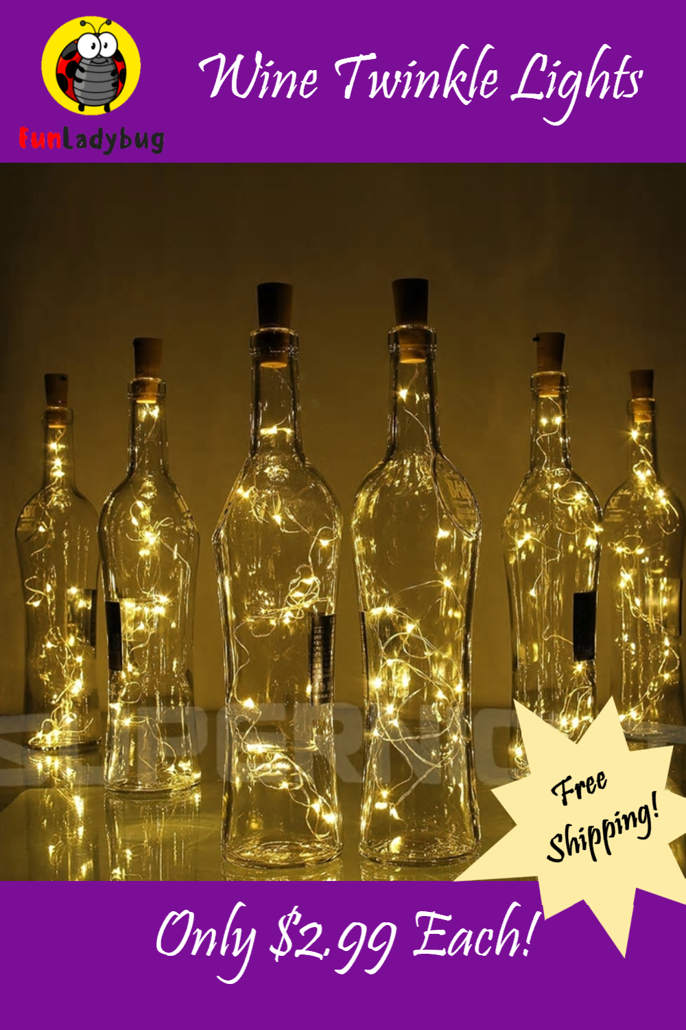 Wine Fairy Lights Add a Touch of Magic! Perfect addition