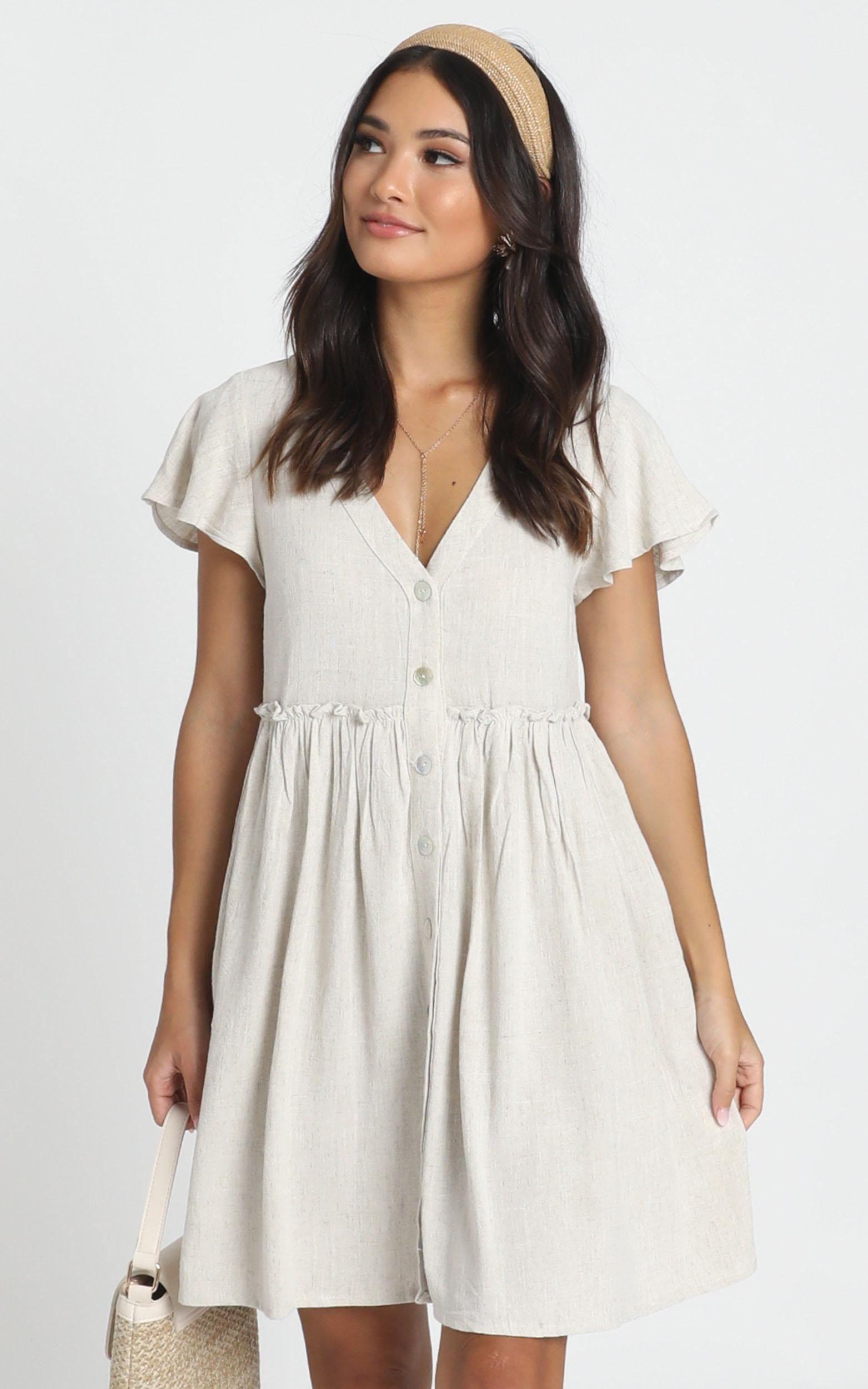 want attention dress in beige | showpo | 1000 - modern in