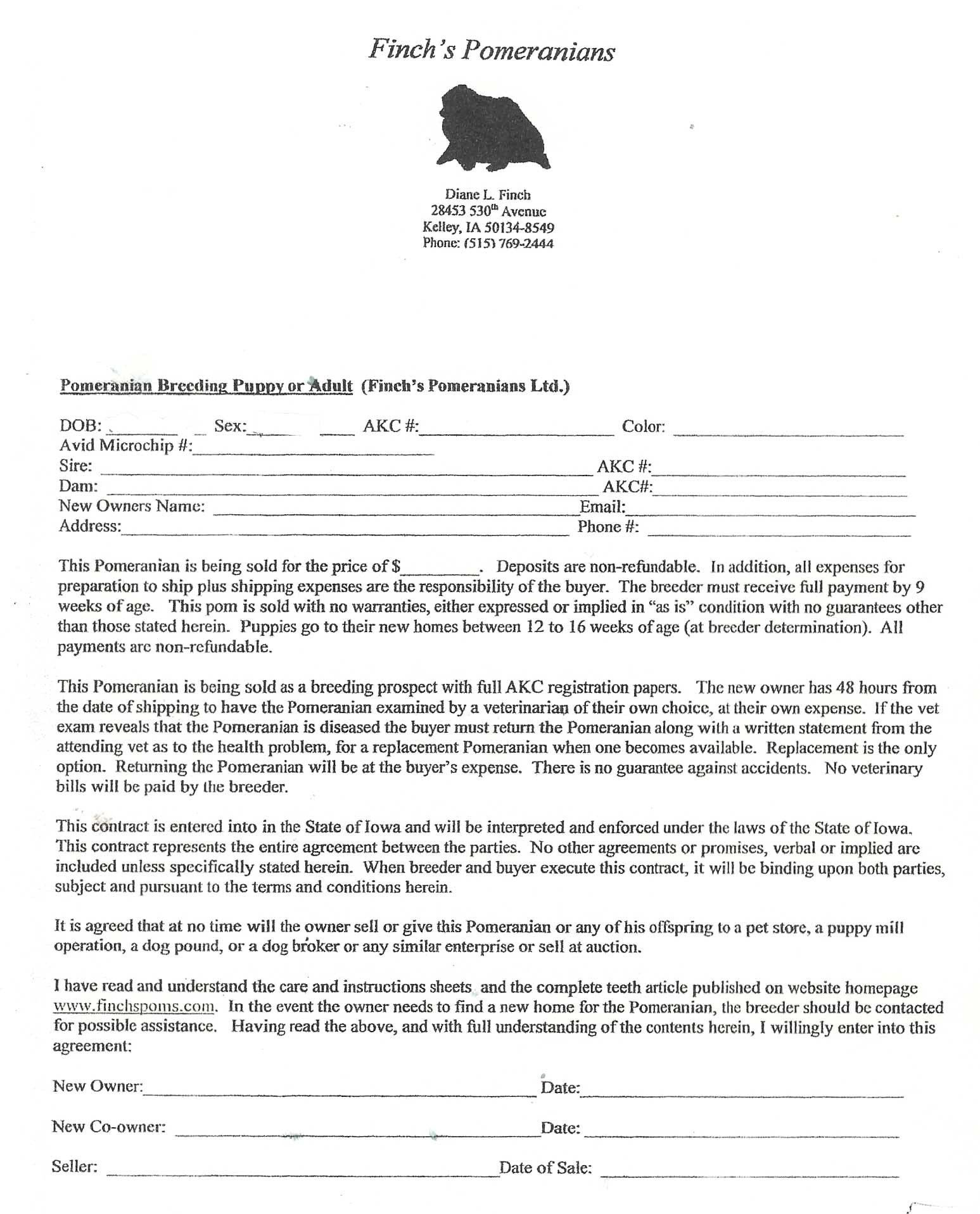28 Dog Breeding Contract Template in 2020 (With images