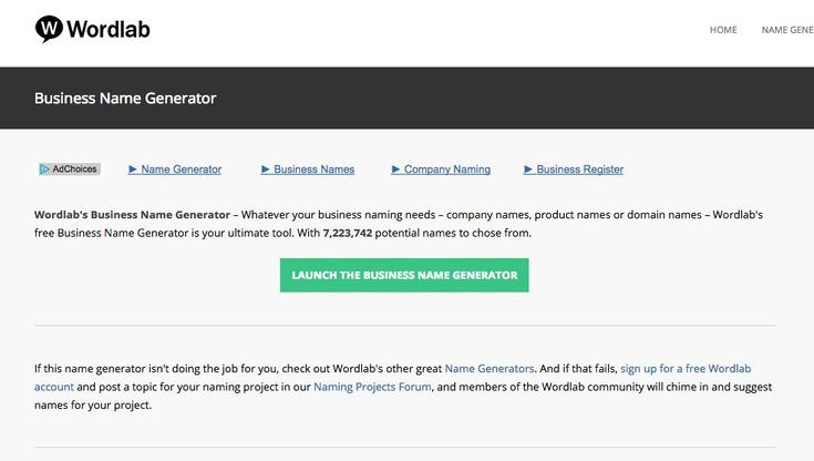7 Awesome Free Business Name Generators Wordlab Generator