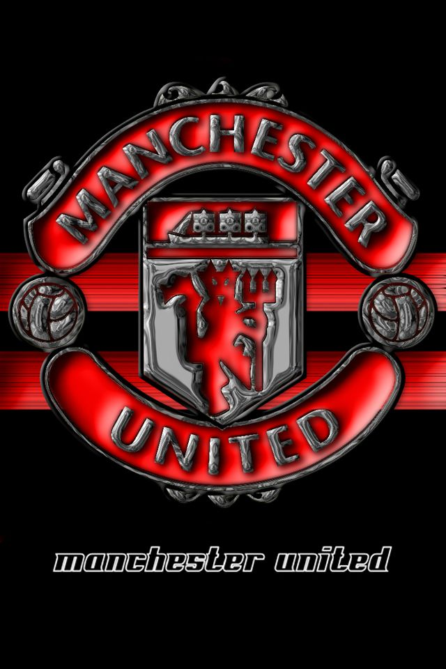 manchester united the red devil logo black and red wallpapers for