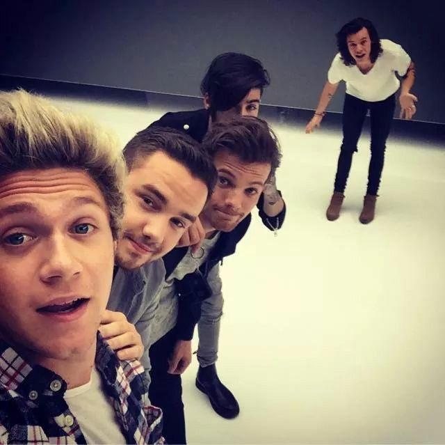 Niall H. , Liam P. ,Louis T. , Zayn M. and Harry S.