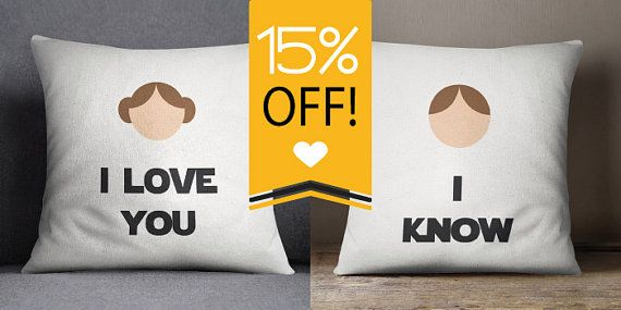 Star Wars I Love You I Know Throw Pillow Set Or By Palmonts I Love