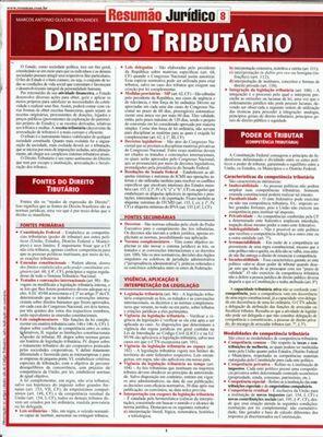 RESUMÃO - DIREITO TRIBUTÁRIO | Direito Tributario