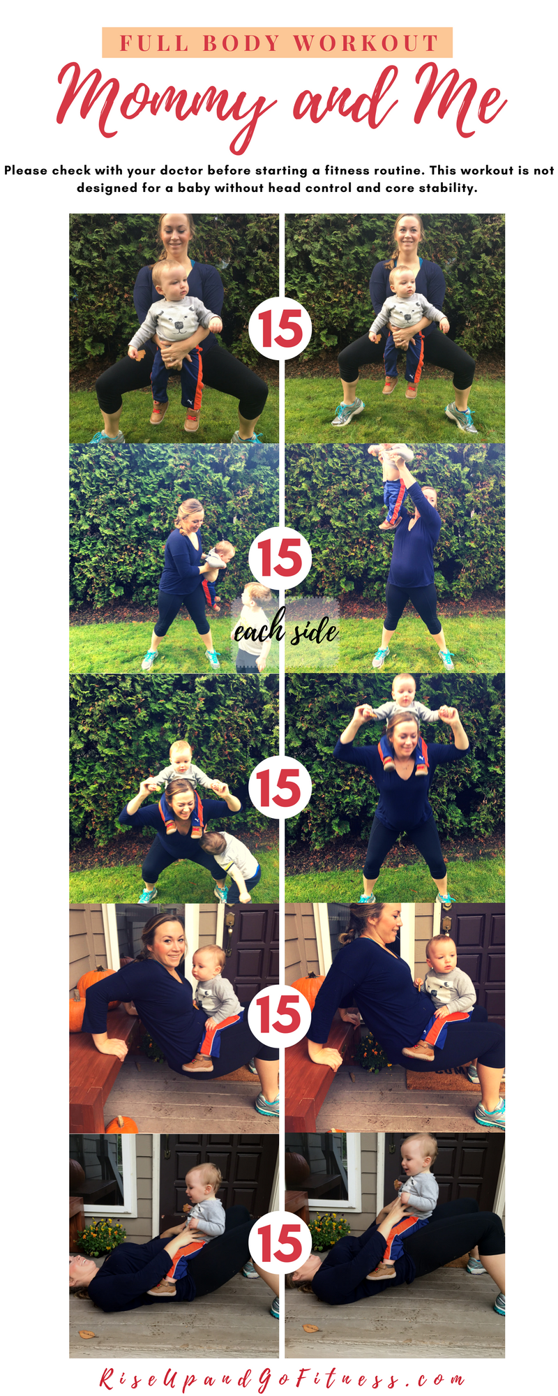 Full body Mommy and Me workout. Involving your kids with your daily tasks like fitness doesn't have to be impossible.