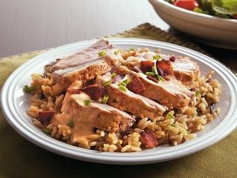 Slow cook pork with apple cider and honey. Serve it with mashed potatoes for a hearty dinner.
