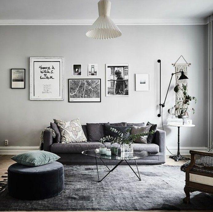 Déco salon gris - 88 super idées pleines de charme   Living rooms ...
