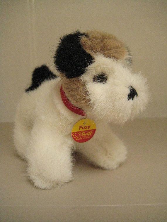 In my ETSY Shop: Steiff Vintage Foxy Fox Terrier ~ Rare (1978 to 80) raised script button - EAN 1528/11