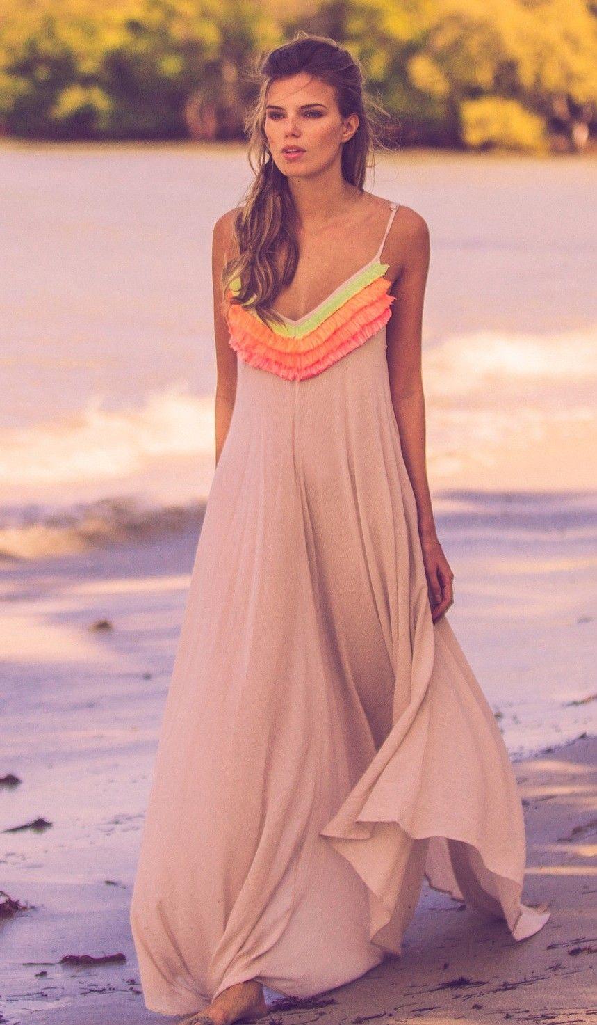 Mara Hoffman Fringe Handkerchief Dress   Nic del Mar   Stitch Fix ...