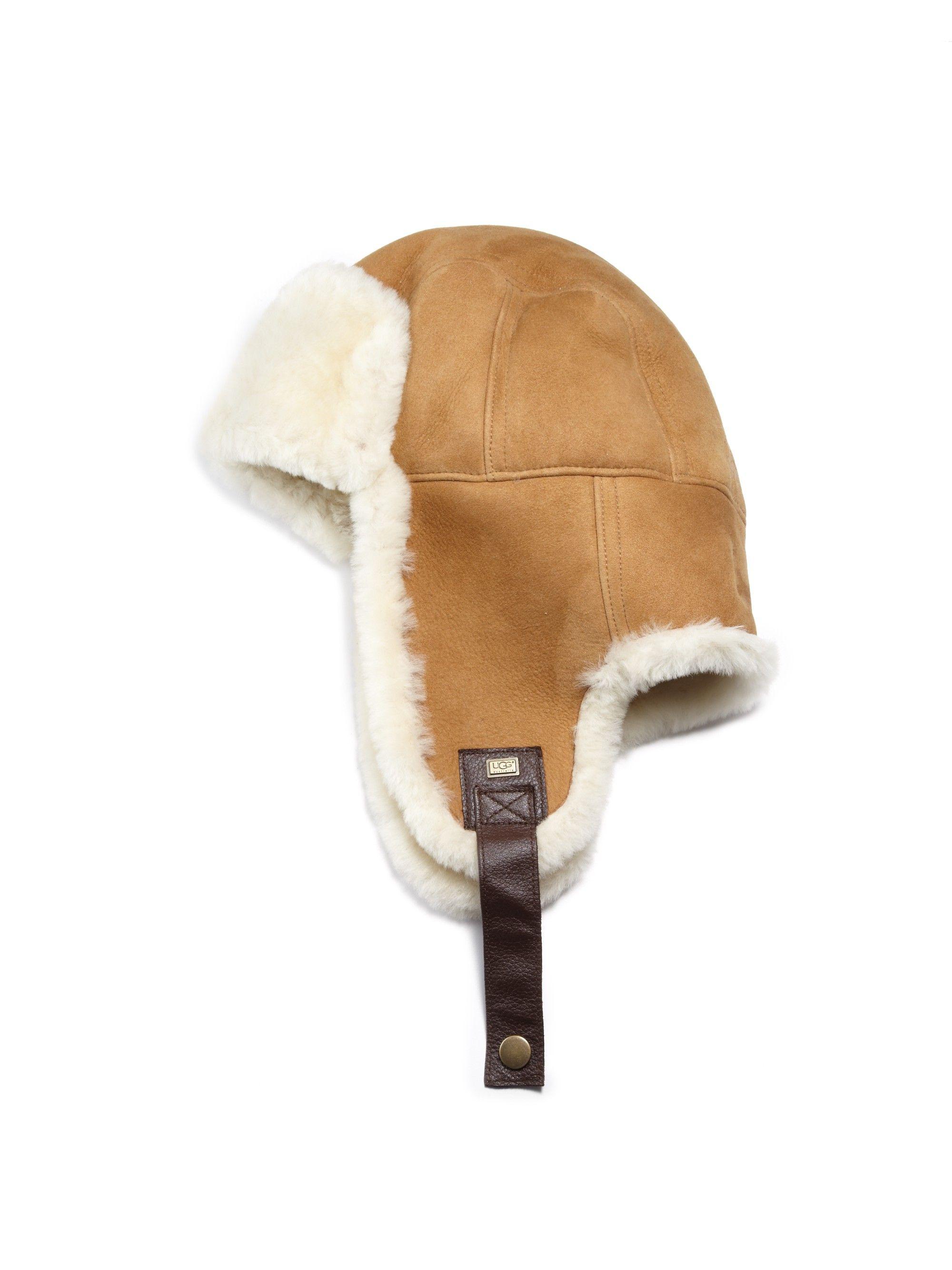 d271994539ebb UGG Sheepskin Stoneman Trapper Hat.  ugg