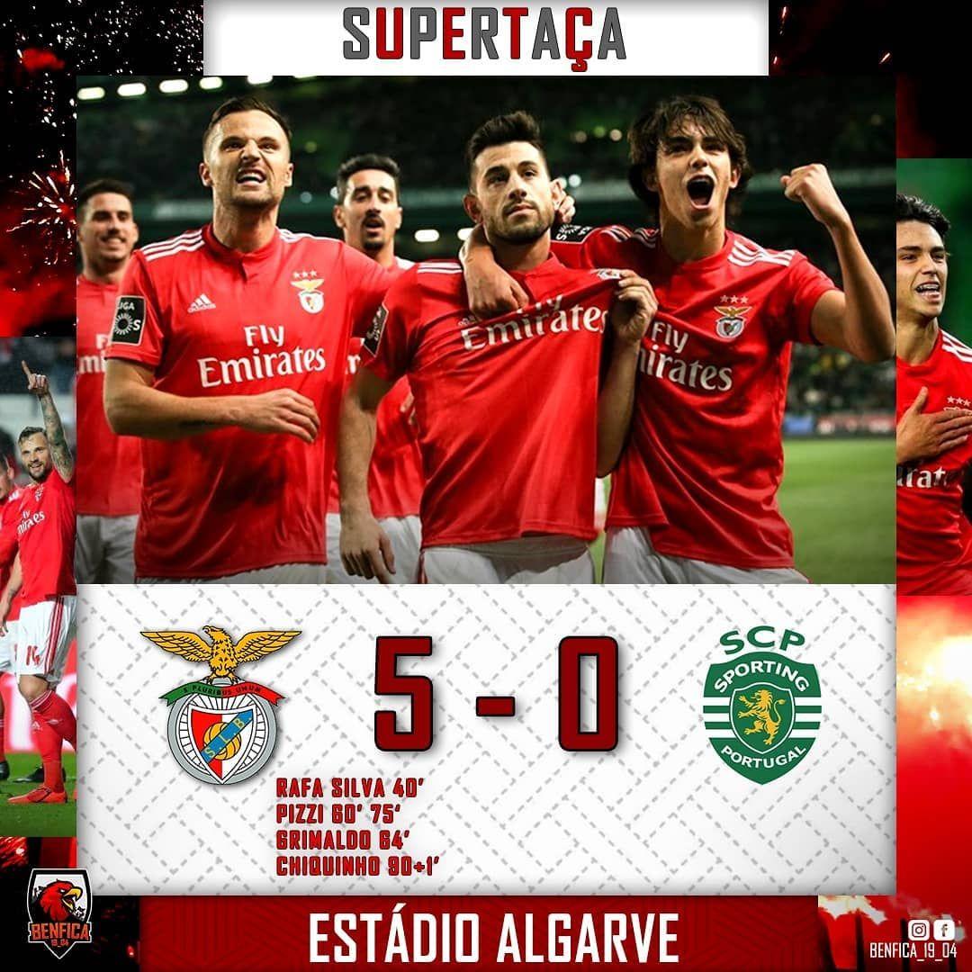 Final Do Jogo Benfica 5 0 Sporting Rafa Silva 40 Pizzi 60 75 Grimaldo 64 Chiquinho 90 1 Benfica Slb