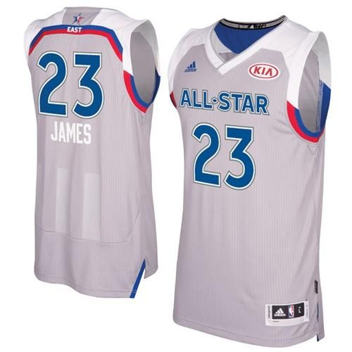 df77e174b5cf Cavaliers  23 LeBron James Gray 2017 All Star Stitched NBA Jersey ...