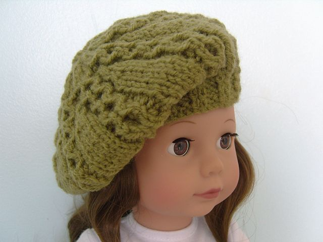 Ravelry: American Girl Doll Free Knitted Beret Pattern pattern by ...