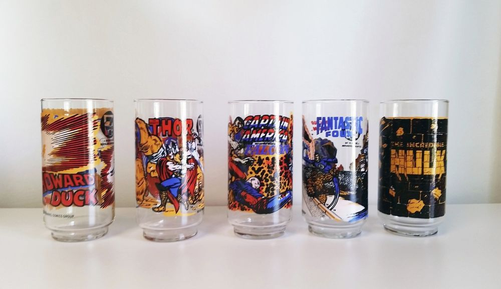 marvel comics 7-11 glasses