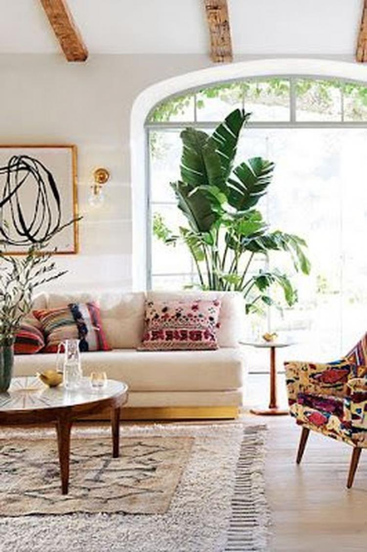 45 Comfortable Urban Bohemian Living Room Design Ideas Bohemian Living Rooms Living Room Designs Bohemian Living Room Living room boho decor