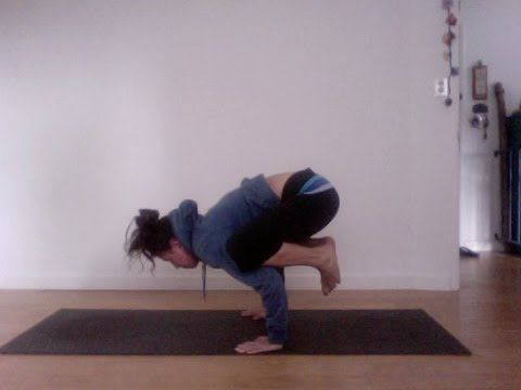 yoga headstand to crow and back again instruction  shana
