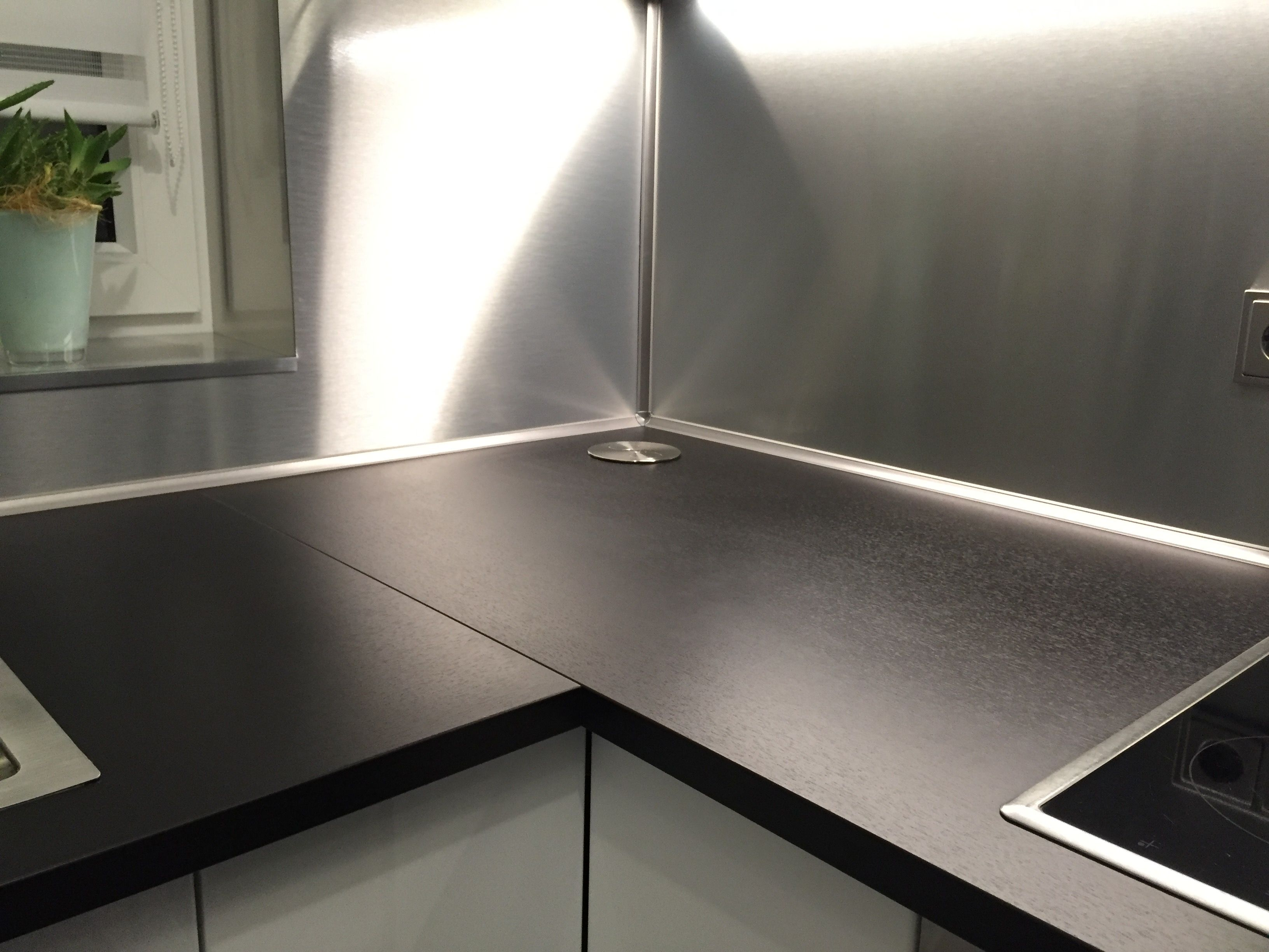 Alu Dibond® Küchenrückwand individuell von uns für den Kunden ...