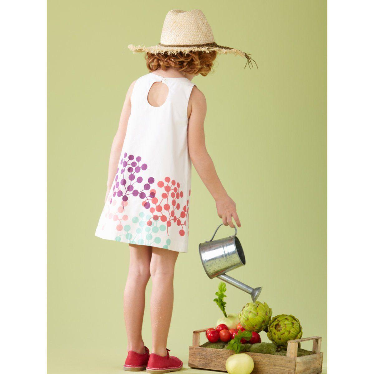 Vestido agua de rosas LZC niña 2 a 14 años