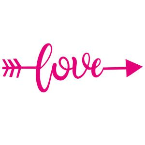 Download Silhouette Design Store: love word arrow | wedding decor ...