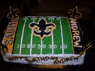 New Orleans Saints Field Cake By 2kiddos On CakeCentral