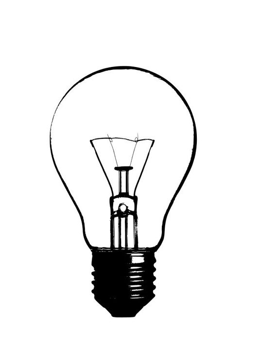 Coloring Page Light Bulb Img 10244 Lightbulb Tattoo Light Bulb Art Light Bulb Drawing
