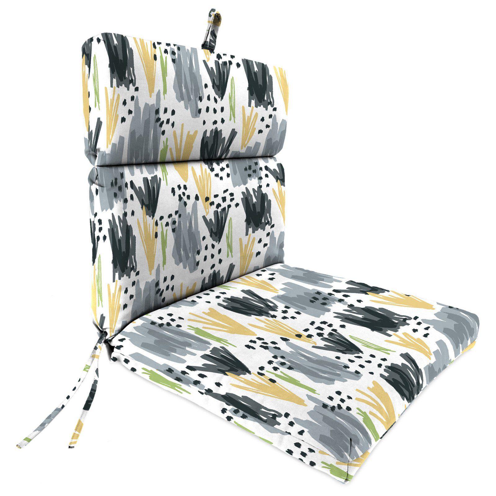 Jordan Manufacturing Stone Outdoor Floral French Edge Patio Chair Cushion In 2021 Chair Cushions Patio Chair Cushions Outdoor Cushions And Pillows