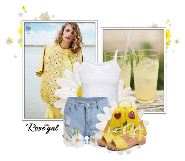 """""""Rosegal shades of yellow"""" by fashion-all-around ❤ liked on Polyvore featuring Bertoni"""