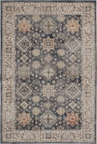 Victoria Taupe & Orange Woven Area Rug - 2 ft x 3 ft