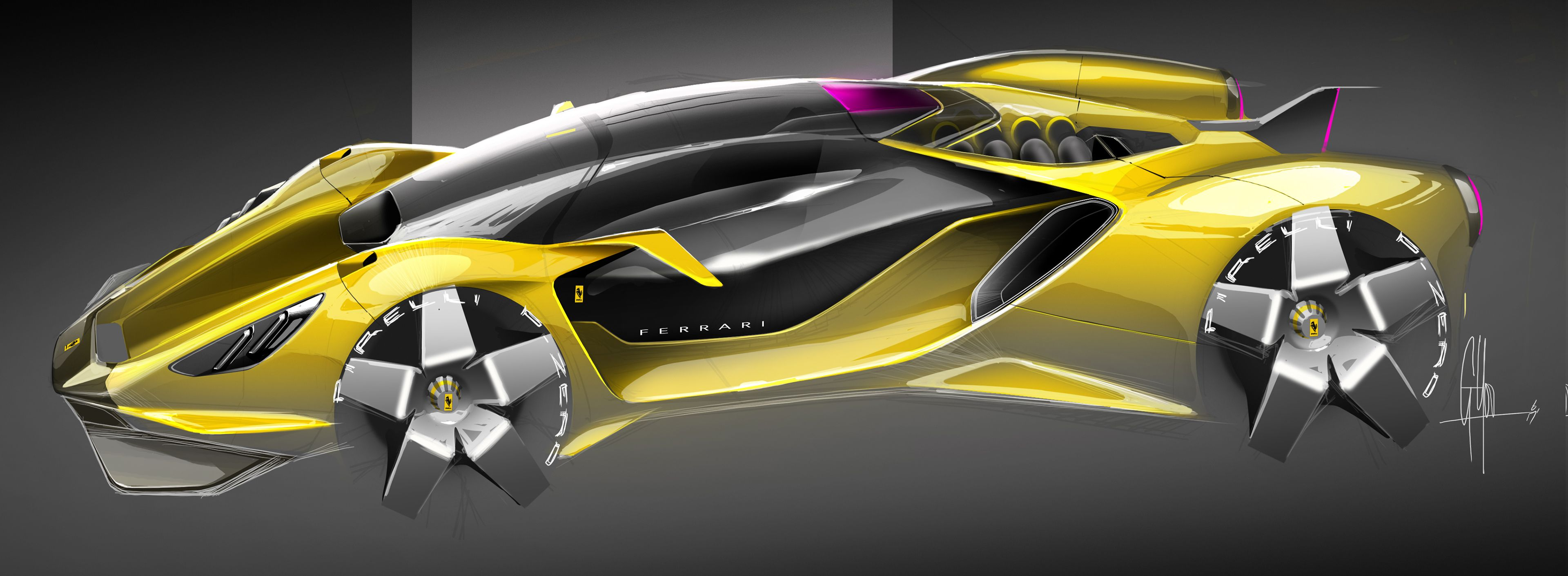 Ferrari Concepts On Behance Concept Cars Futuristic Cars Super Cars