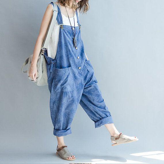 Mori Style Overalls Fashion Cotton Pants Women Sleek Fashion
