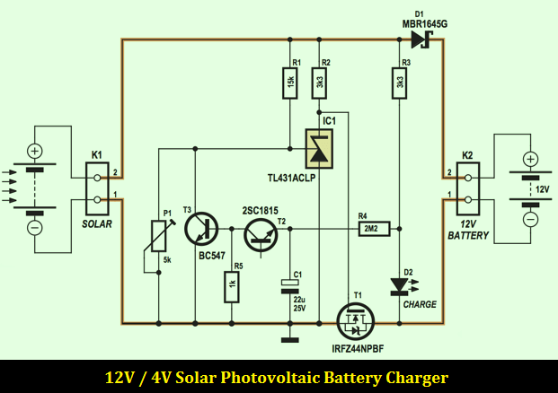 12v 4a Solar Photovoltaic Charger Schematic Solar Power Energy Solar Battery Charger Solar