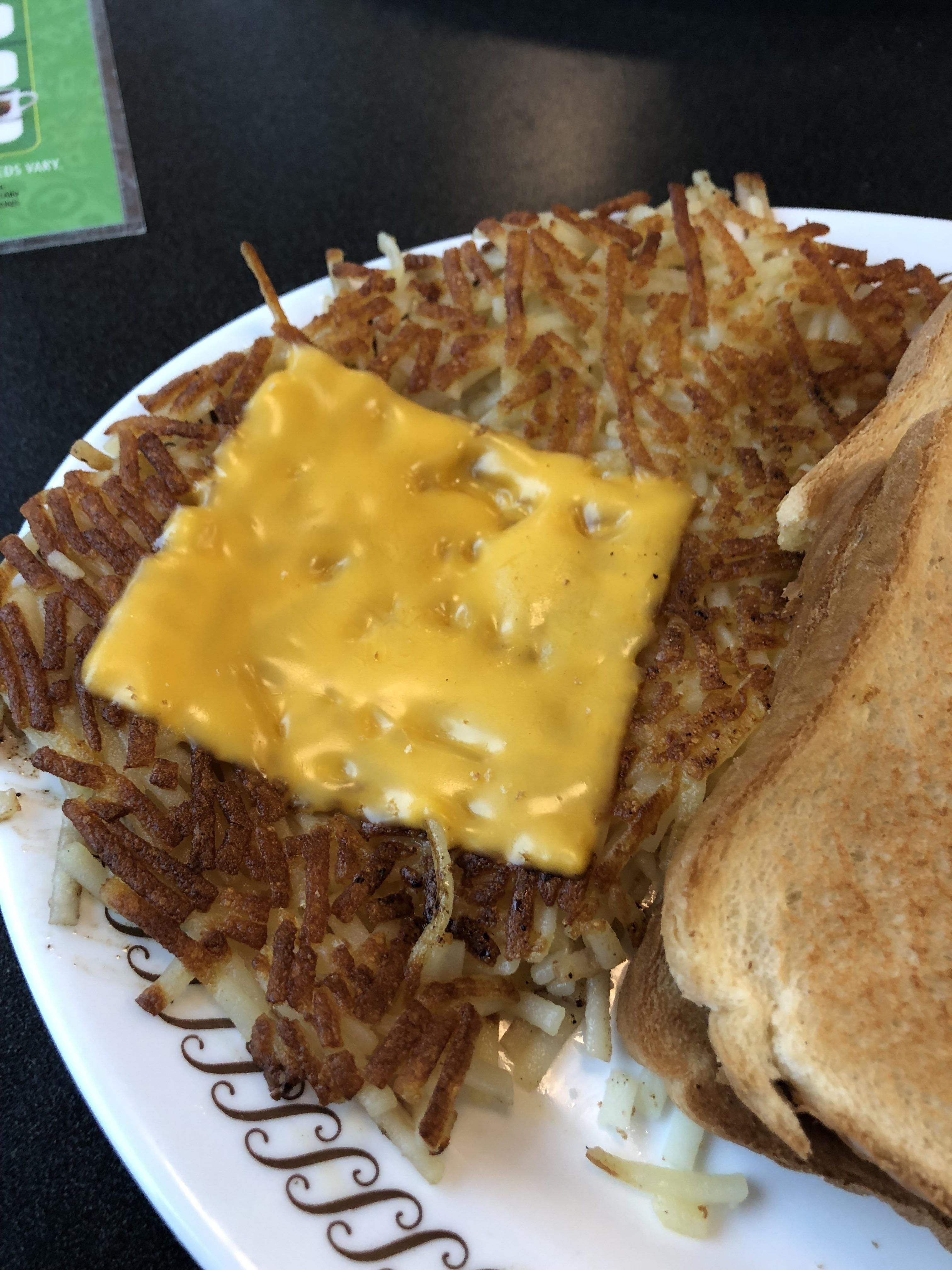 This Is Waffle Houses Covered In Cheese Hash Browns I Ate Food