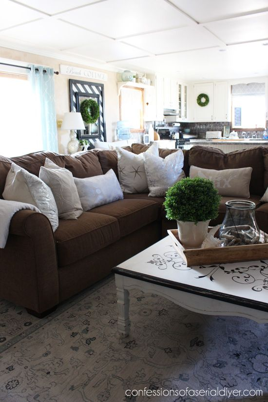 My Summer Home Tour Brown Sofa Decor Brown Couch Living Room