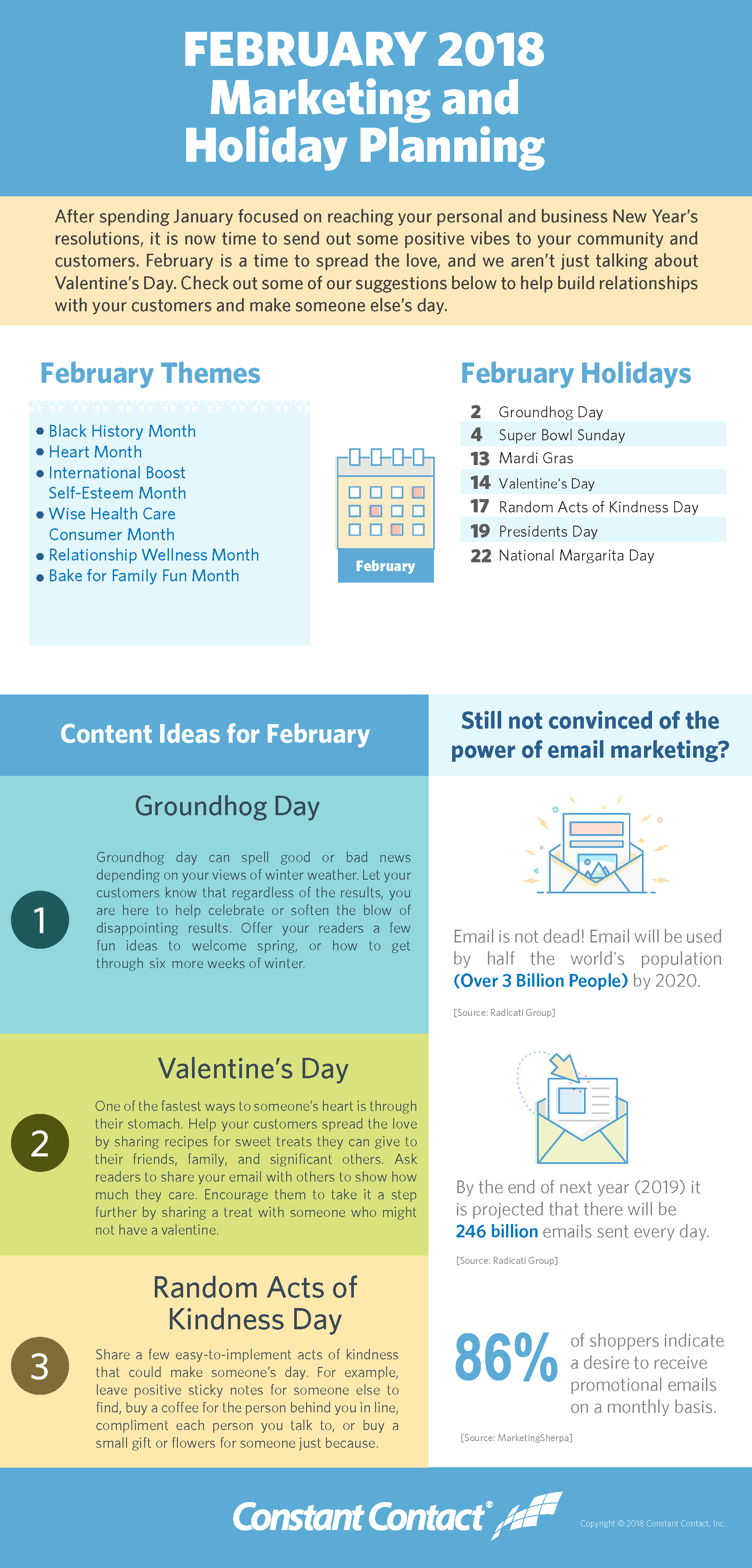 February 2018 Marketing And Holiday Planning Constant Contact