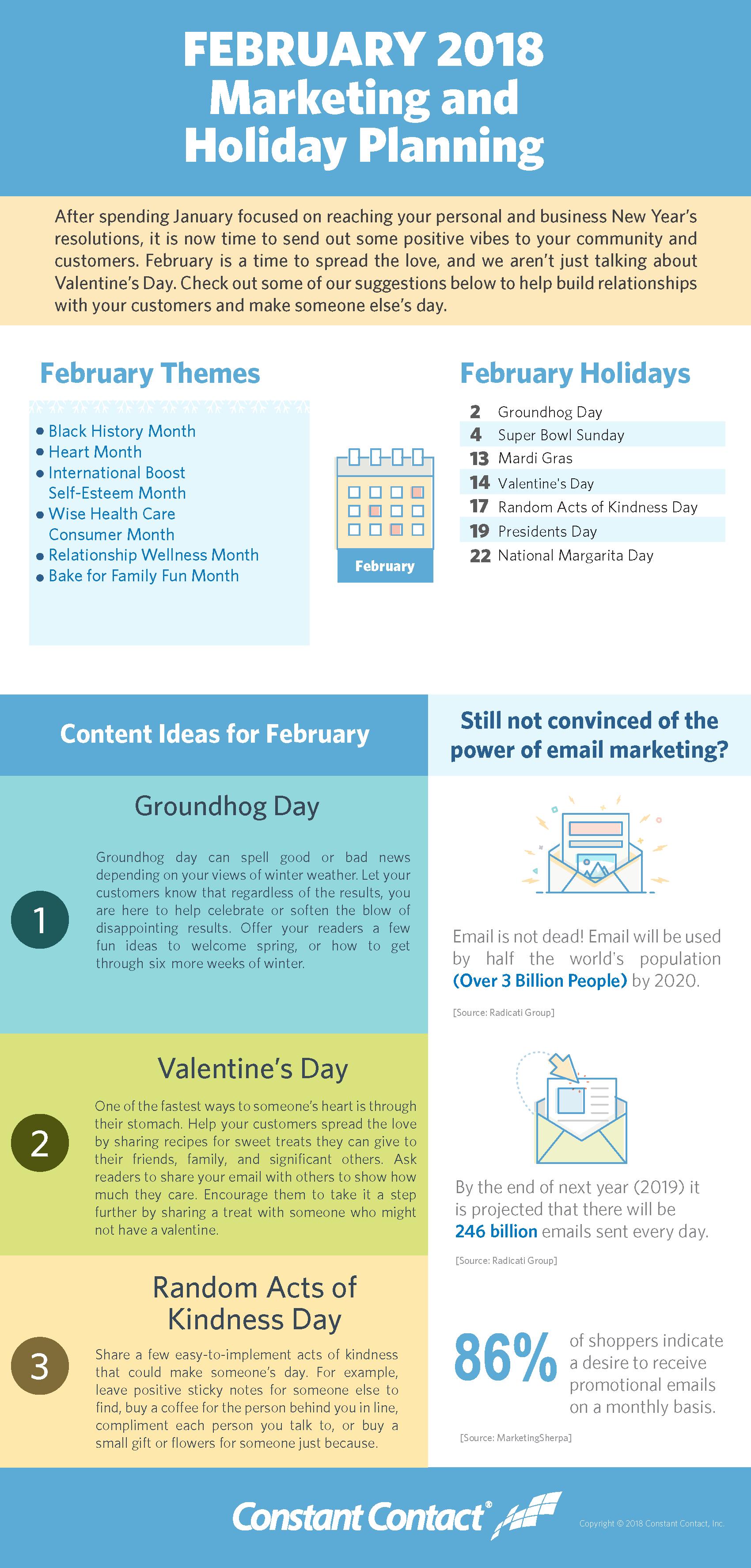 February 2018 Marketing and Holiday Planning | February, Holidays