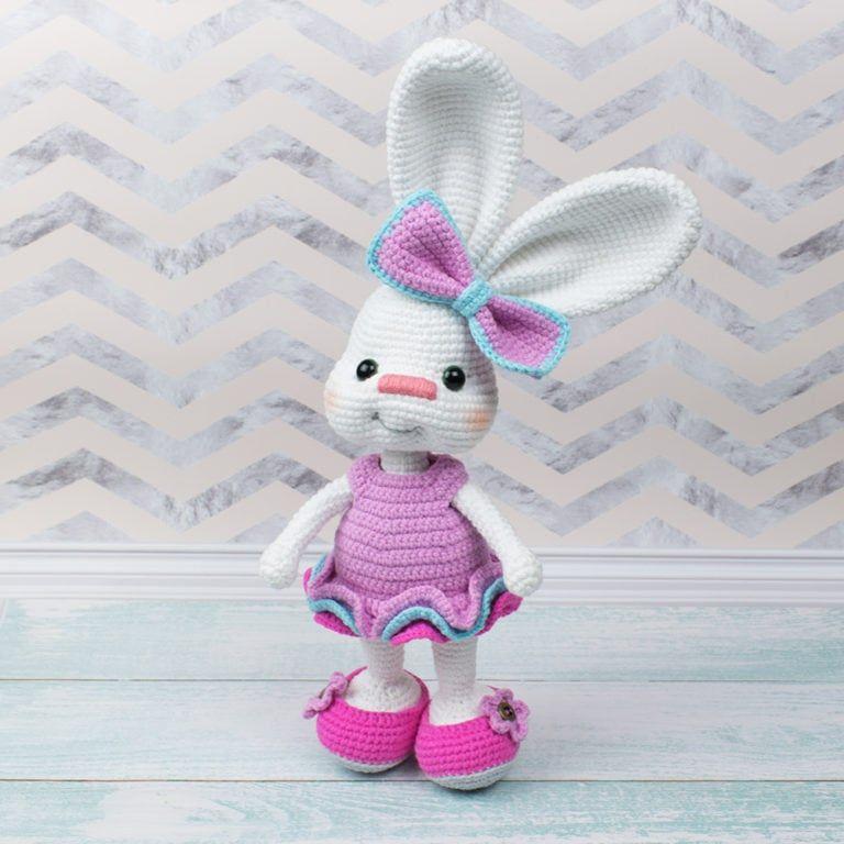 Amigurumi Pretty Bunny in Pink Dress - Free crochet pattern | Crafts ...