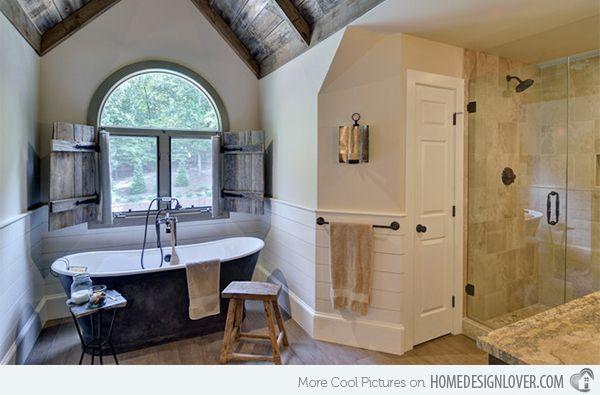 15 Bathroom Designs Of Rustic Elegance Home Design Lover Eclectic Bathroom Design Eclectic Bathroom Bathroom Counter Designs