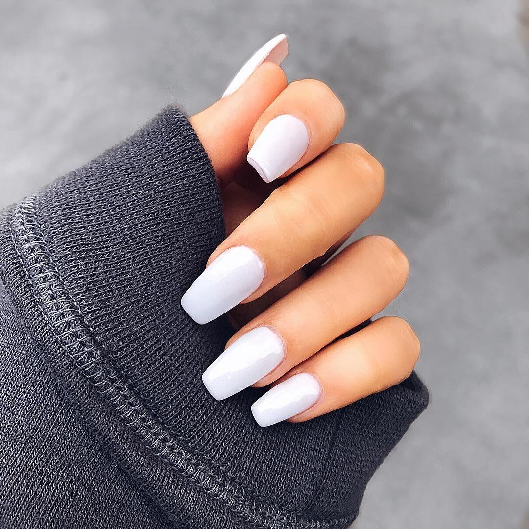 Pinterest @EmmCornett * * * * * * * * * | Fake nails, Best acrylic nails, White  nail designs