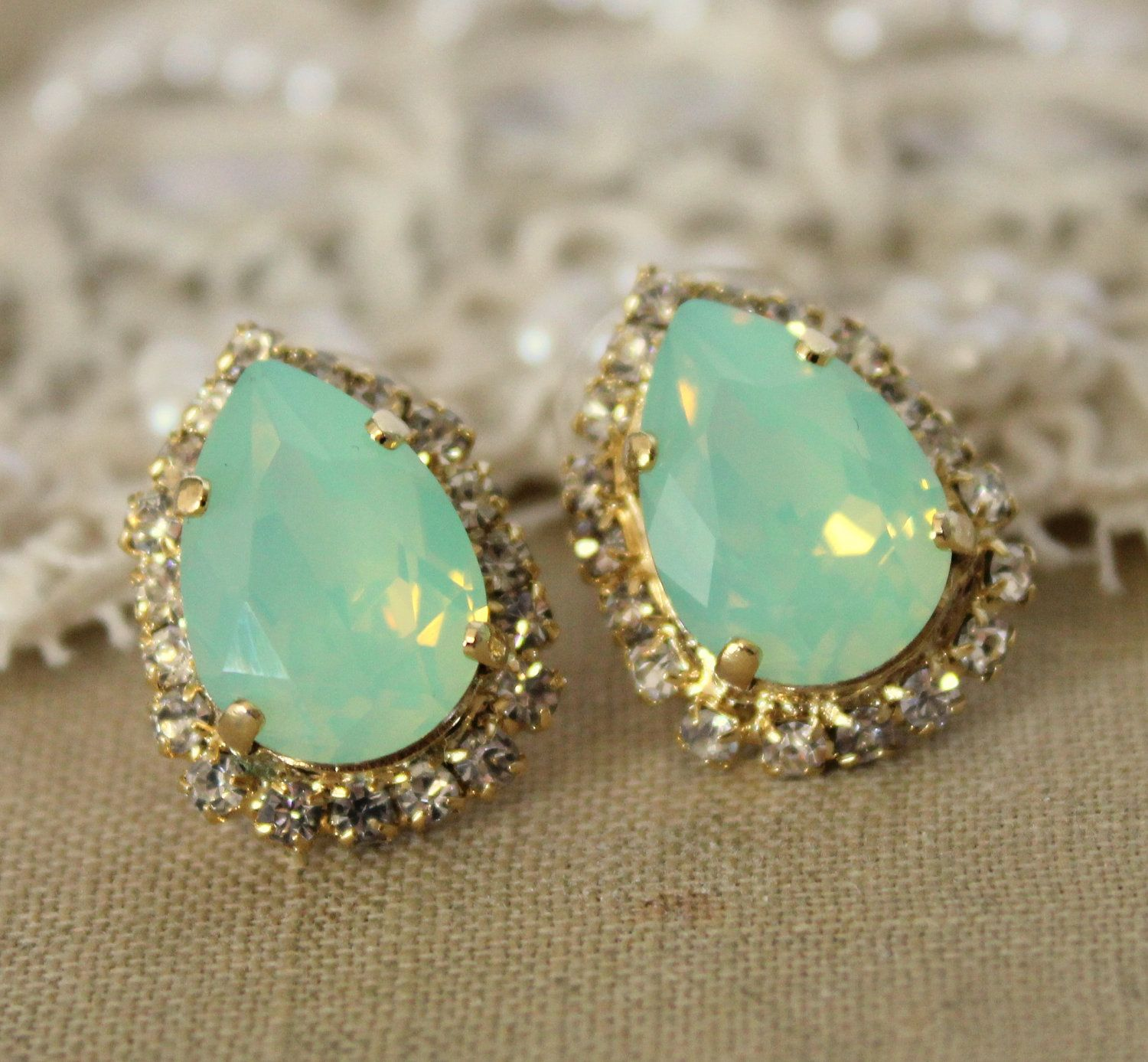 gold stud real ruby earrings opal and