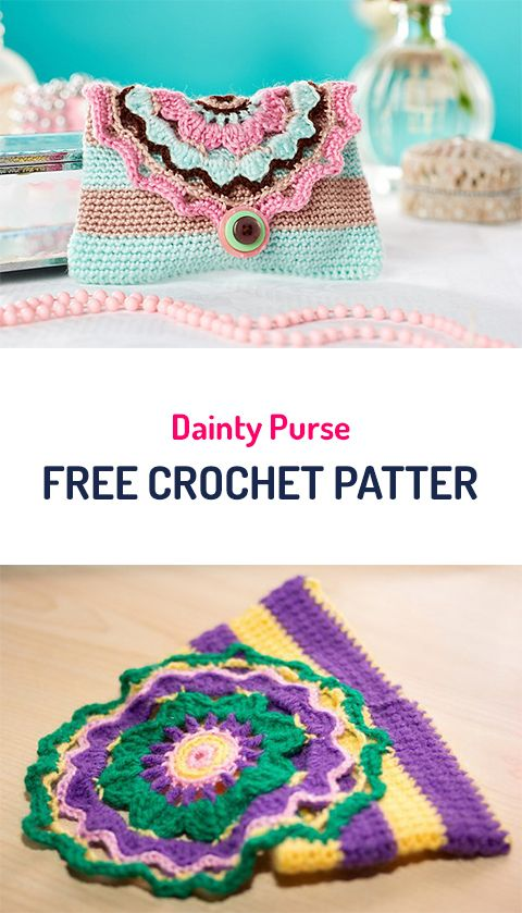 Dainty Purse Free Crochet Pattern #crochet #crocheting #crocheted ...